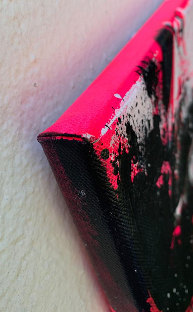 8x10 zabe arts fluo pink acrylic painting corner