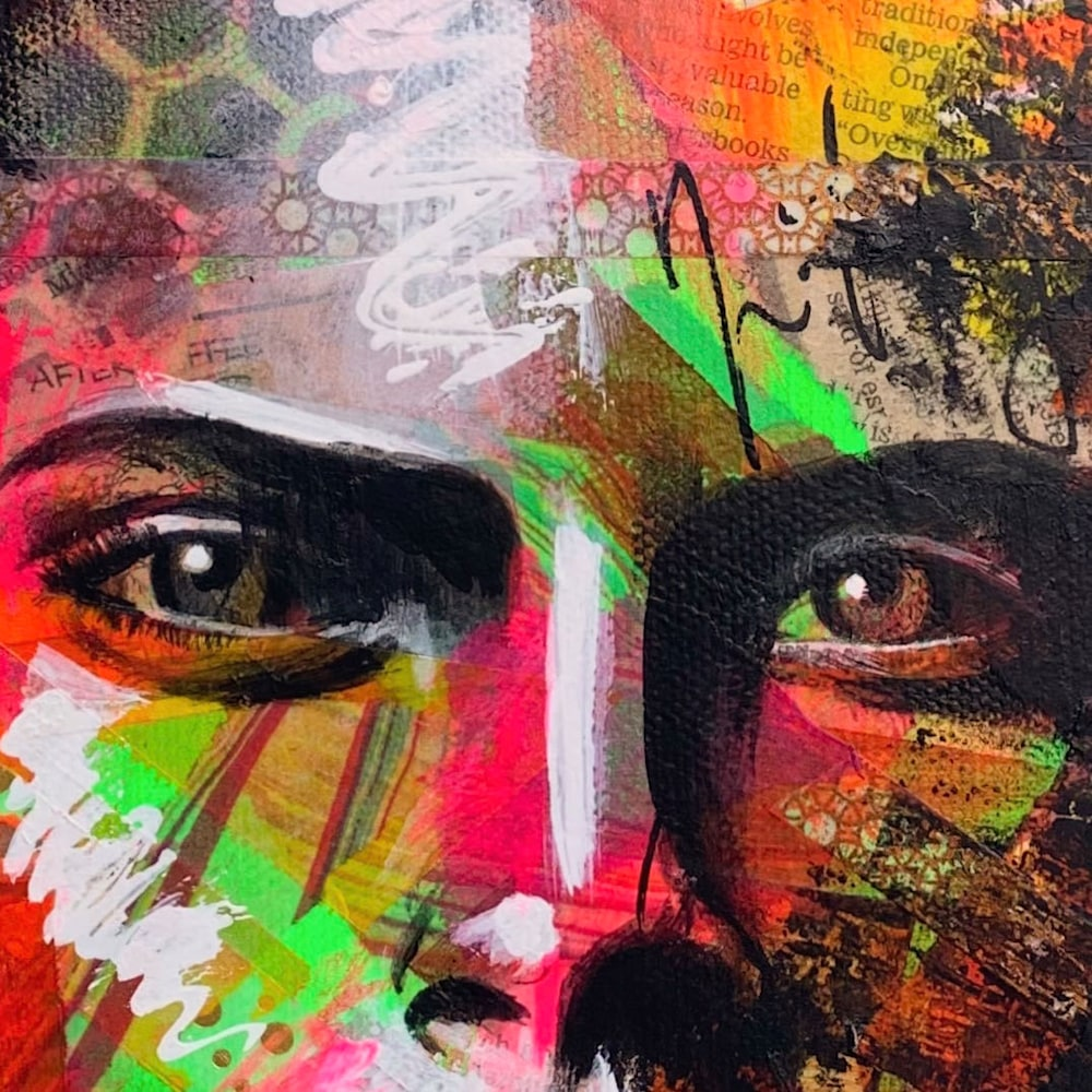 8x10 zabe arts face contemporary art close up1