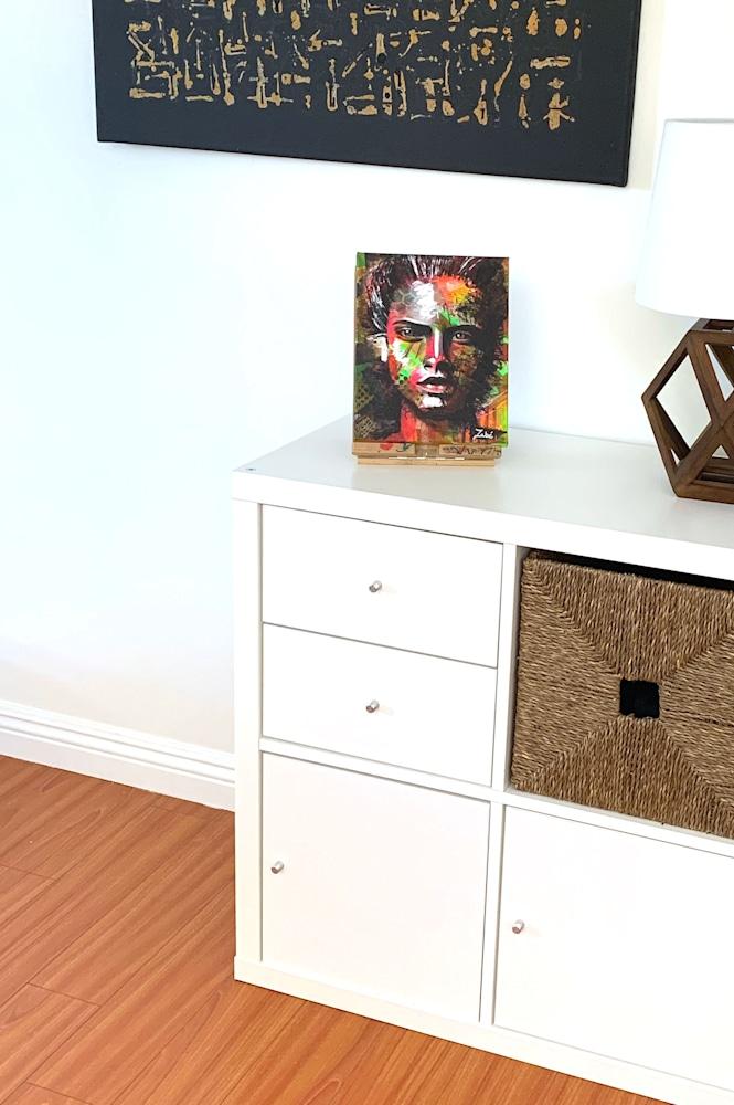 8x10 zabe arts face contemporary art display1