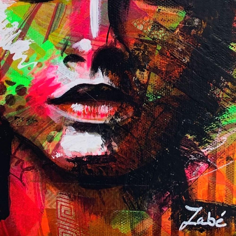 8x10 zabe arts face contemporary art signature