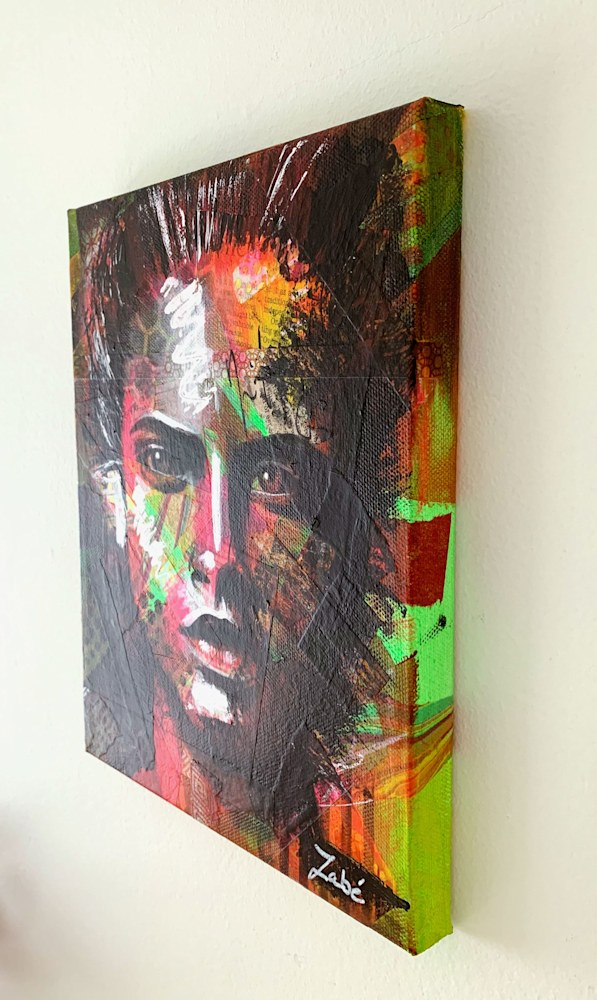 8x10 zabe arts face contemporary art trancheD
