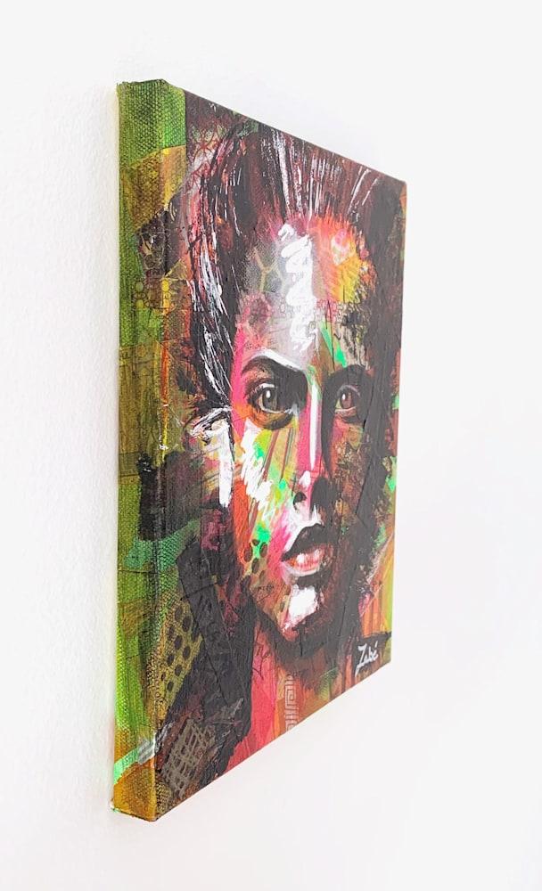 8x10 zabe arts face contemporary art trancheG