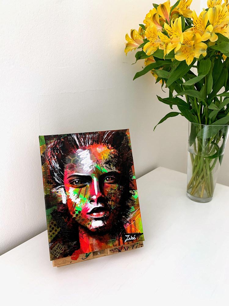 8x10 zabe arts face contemporary art display2