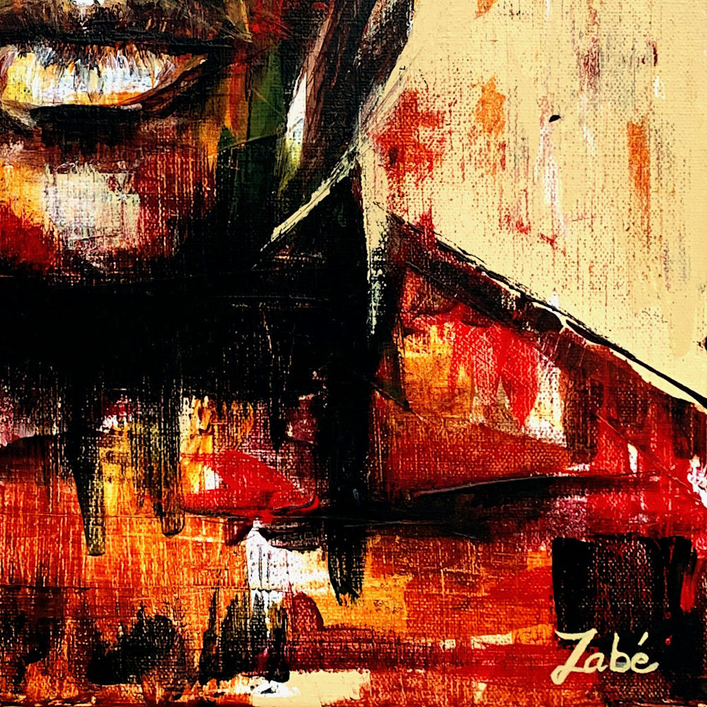 16x20 zabe arts figurative painting signature