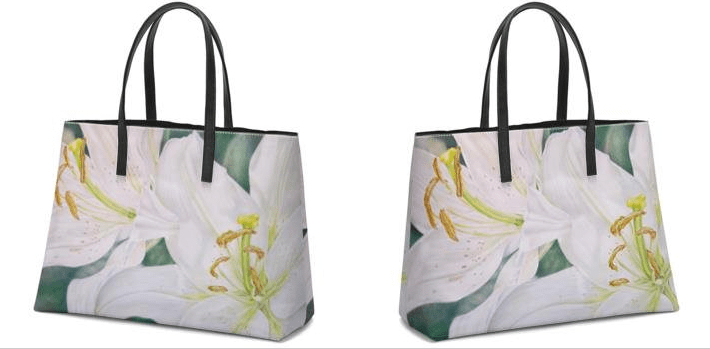 Lily Pair Totebag front back