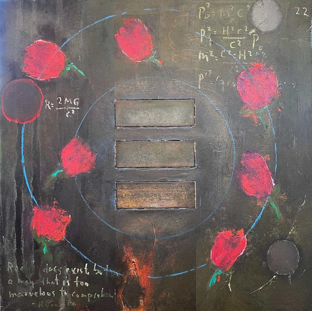 Black Holes and Roses mm 48x48