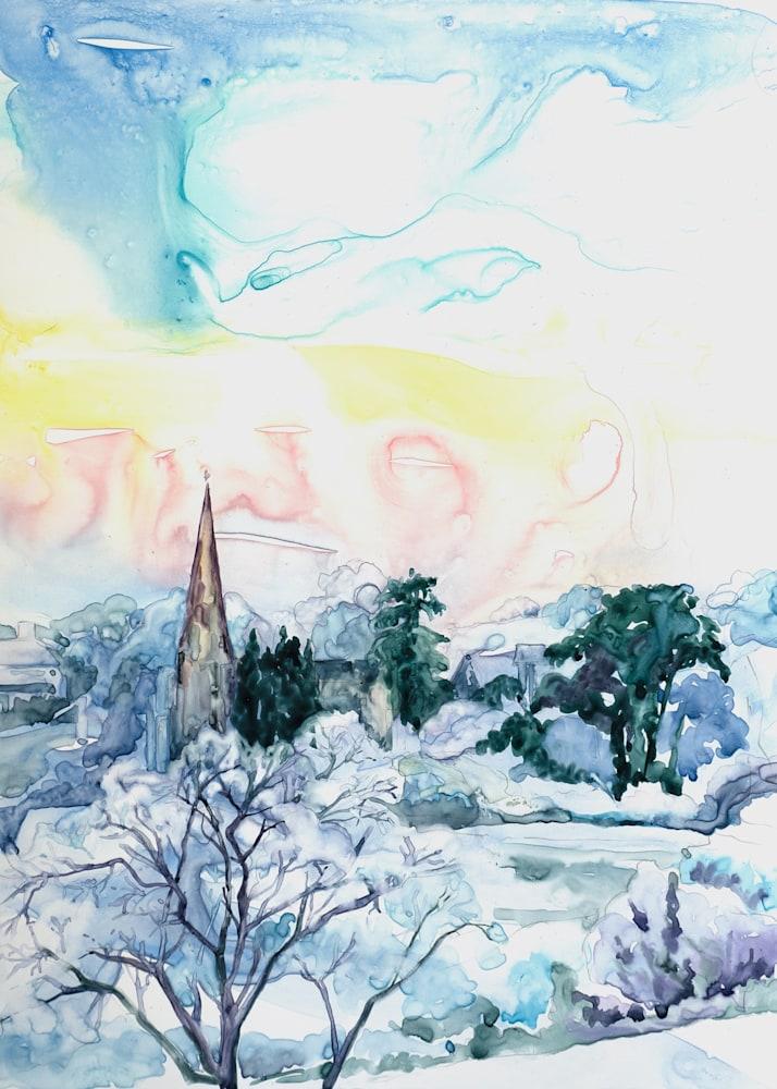 Frosty Morning In Goodrich 5x7
