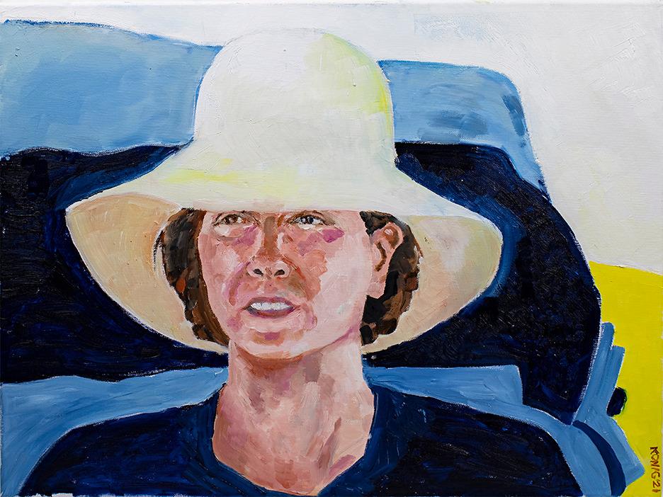 Big White Hat dkonig  24x18LR