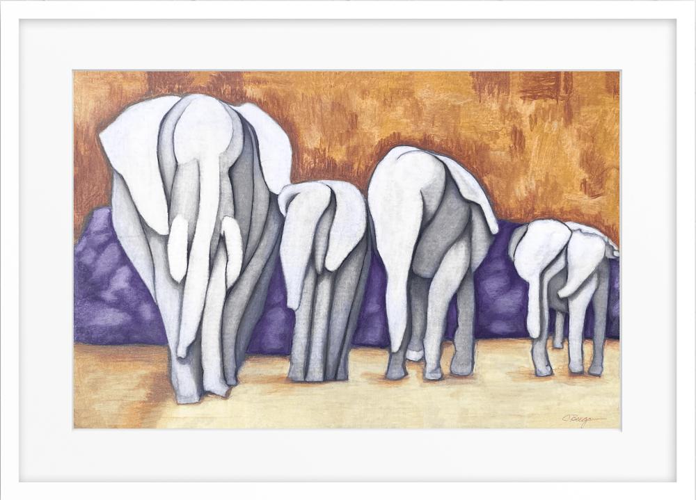 abstract herd framed 001 402721207