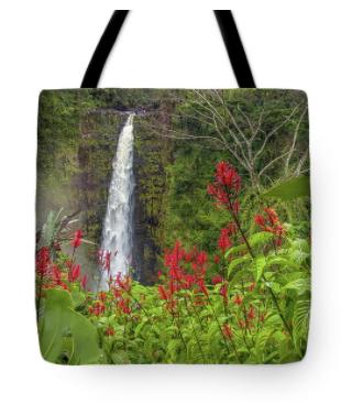 Akaka in Red Tote Bag