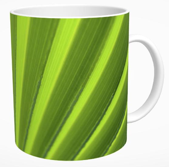 Palm Leaf Abstract Mug