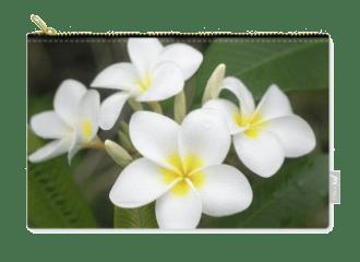 Pleasing Plumeria Zipper Pouch