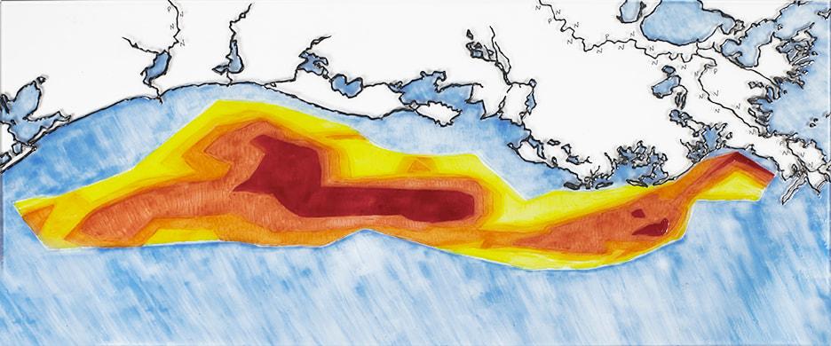 Gulf of Mexico Dead Zone mmulhearn 24x10LR