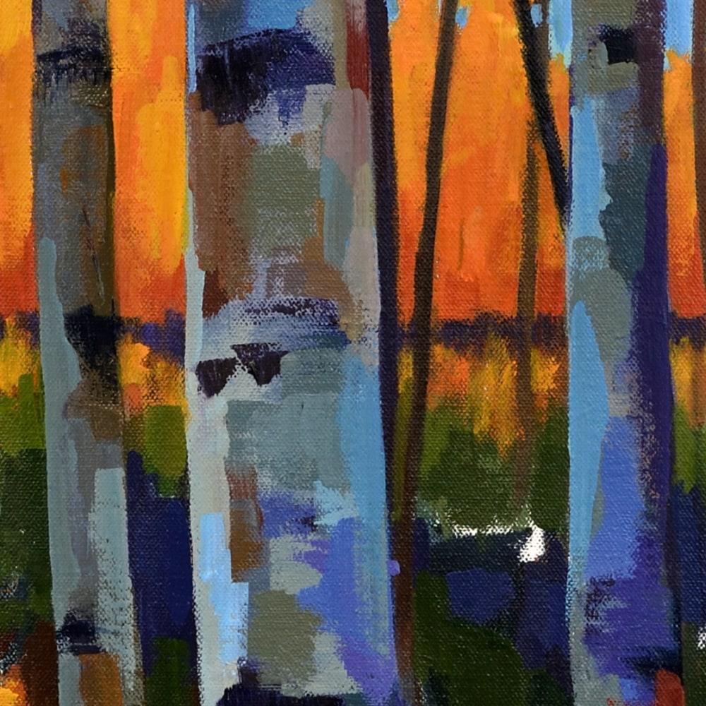 Hallgren BirchSunset20x20 detail1