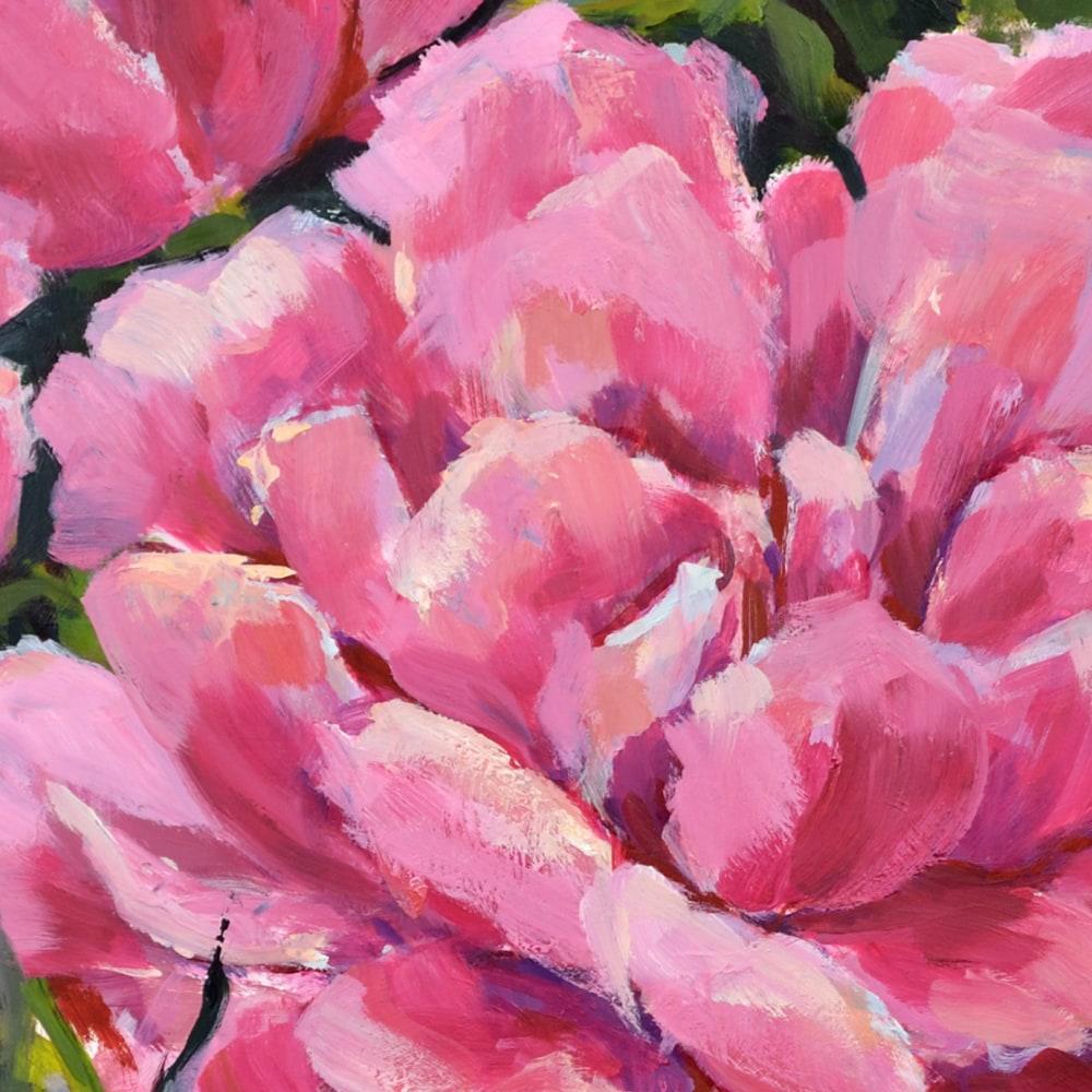 Hallgren PinkPeonies 20x20 detail1