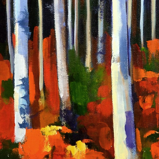 Small Birch Forest 20x20 Detail1