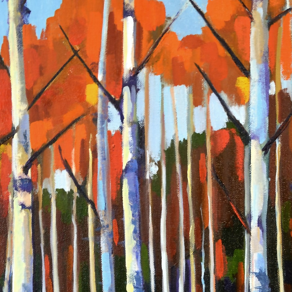 Small Birch Forest 20x20 detail2