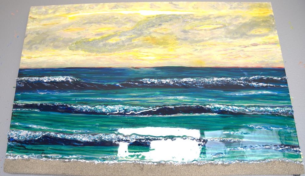 Textured Surf at Sunset 6