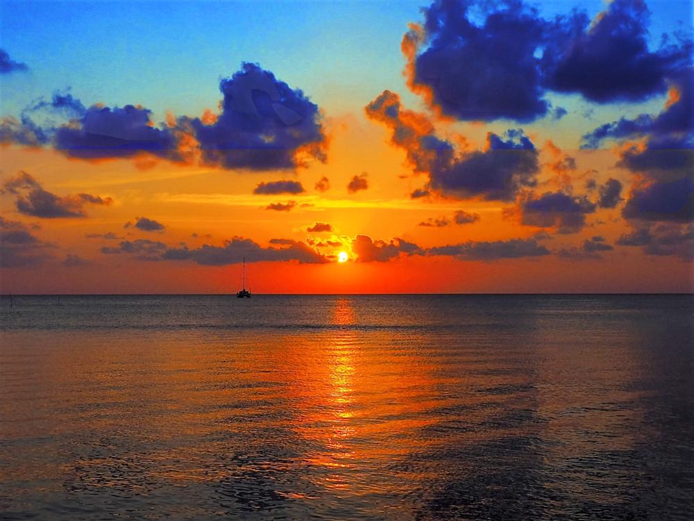 April Storm Sunset Belize by AEllis