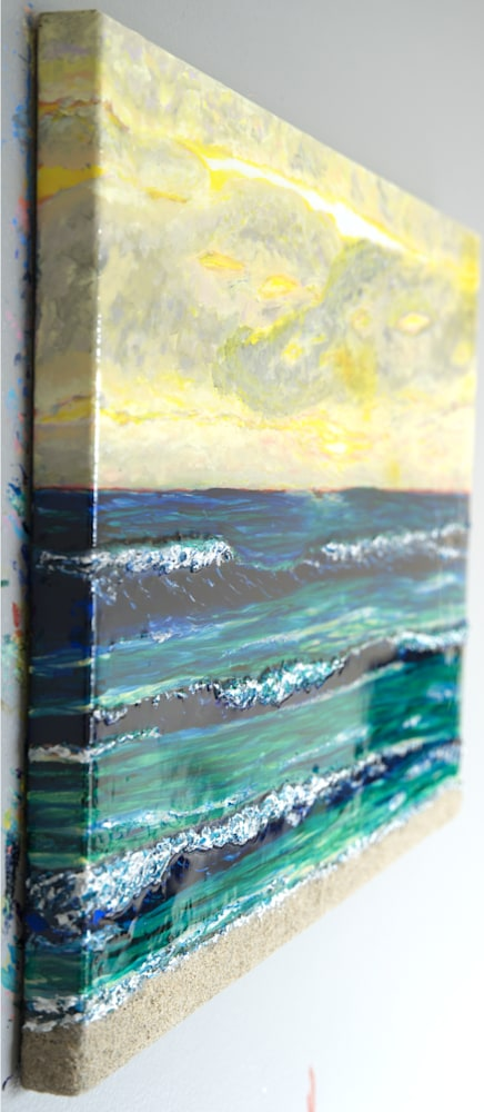Textured Surf at Sunset 3