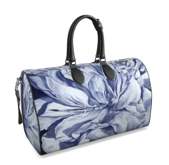 Purple peony large duffle front pic