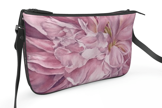 Pink peony double clutch front