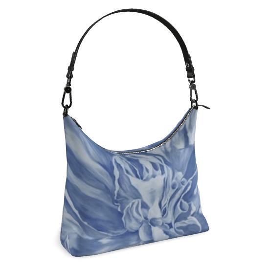 Blue peony handbag