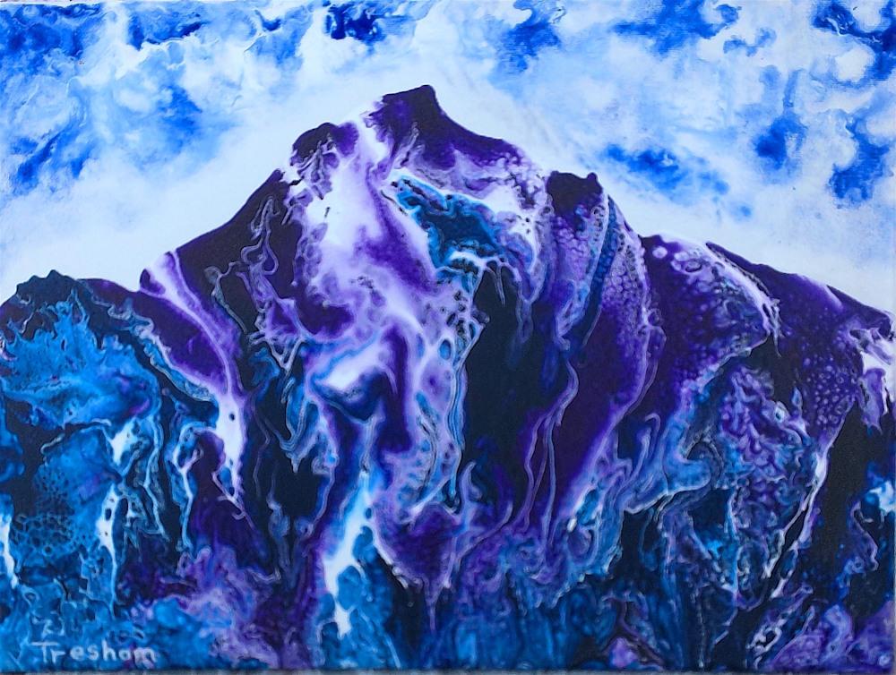 Purple Mystic Mountains