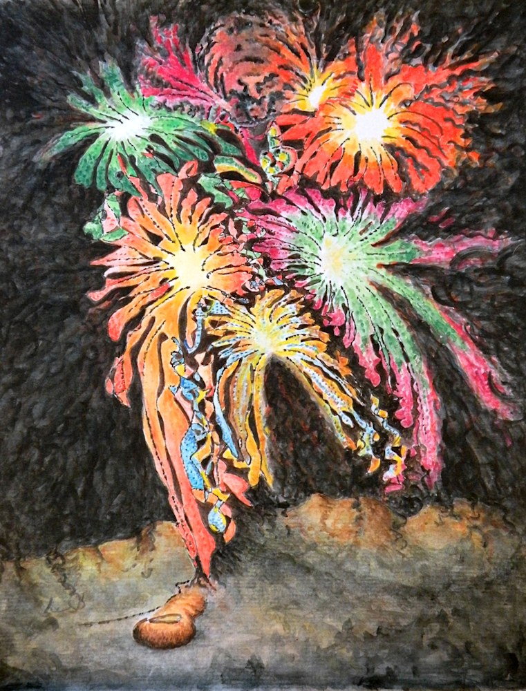 Fireworks Man 8 5 x 11