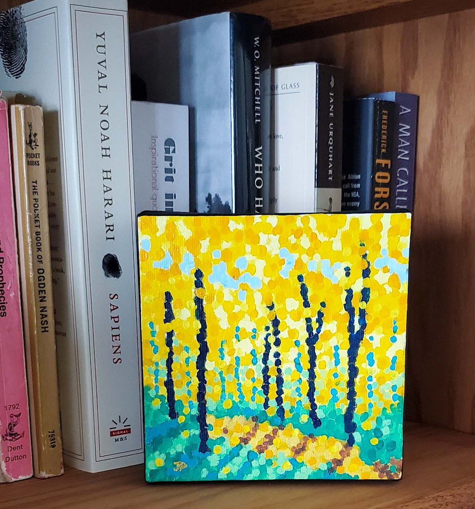 Autumn Sunshine Bookshelf