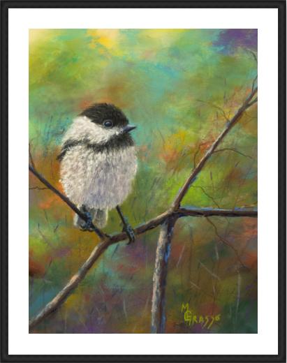 Chickadee Limited Edition 10x12 framed
