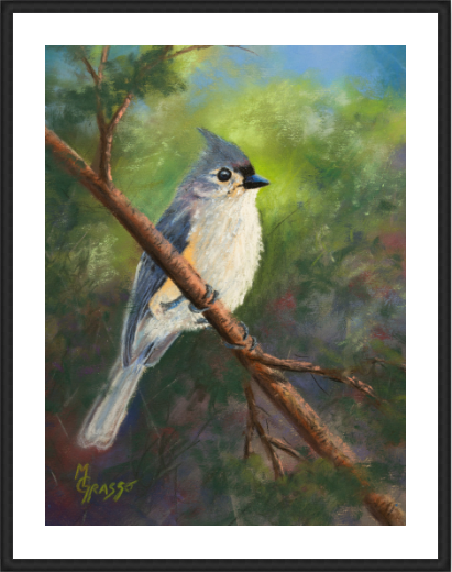 Tufted Titmouse Limited Edition 10x12 framed