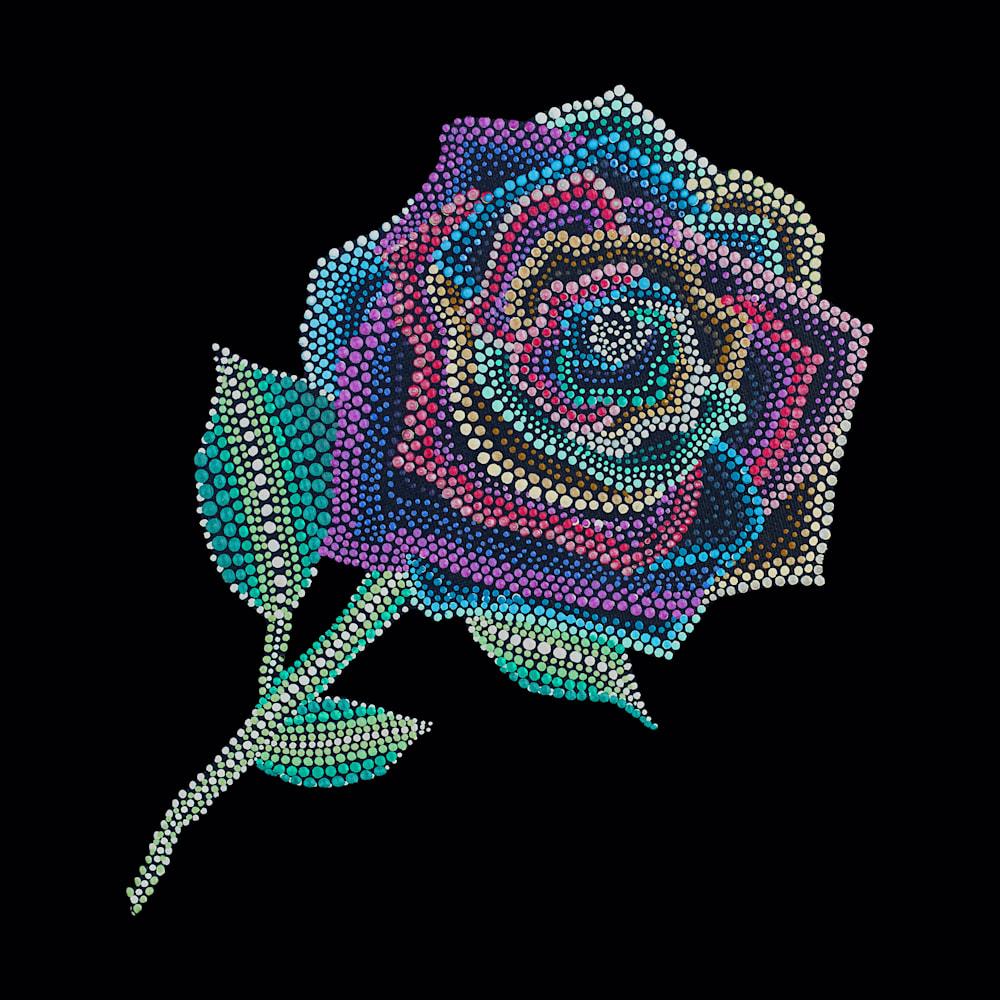 Rainbow Rose Painting copy