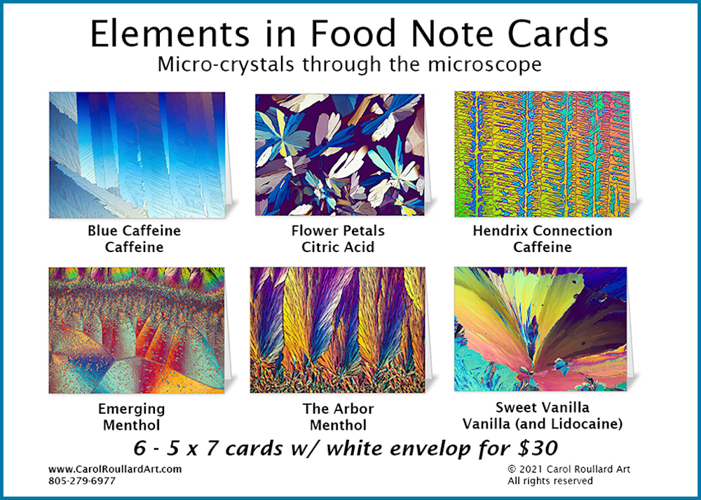 Elements in Food 6 Pack of Note Cards