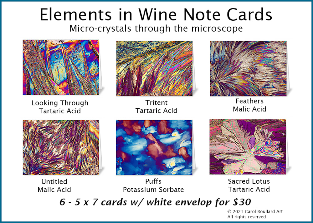 Elements in Wine 6 Pack of Note Cards