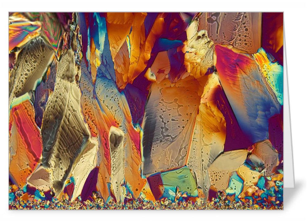 Crystal Rock Garden   adipic acid   Note Card