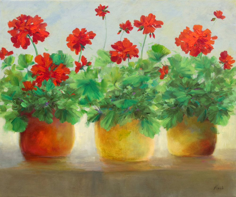 4646 red blooms 1 20x24 oil sheila finch