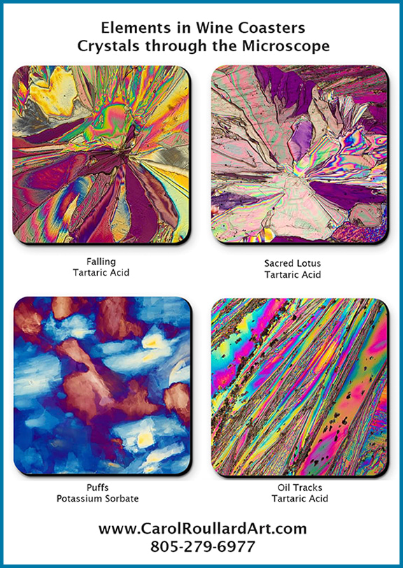 Elements in Wine Coasters V2 bigger flattened w border insert