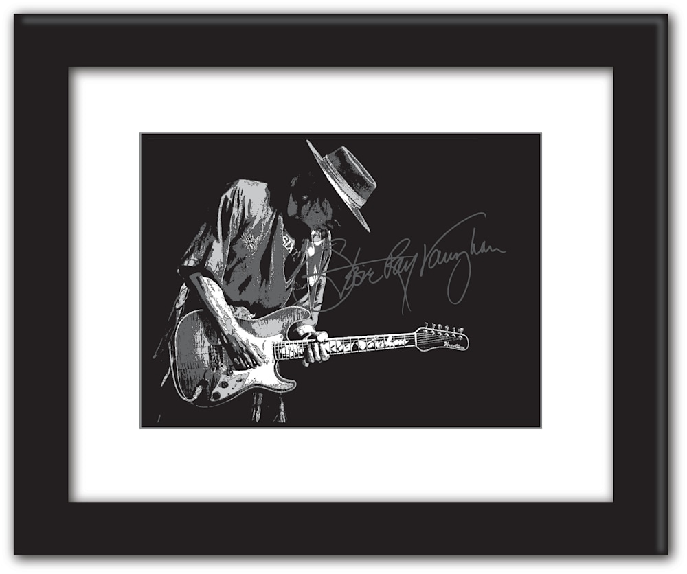 Stevie Ray Vaughn posterized 16x20