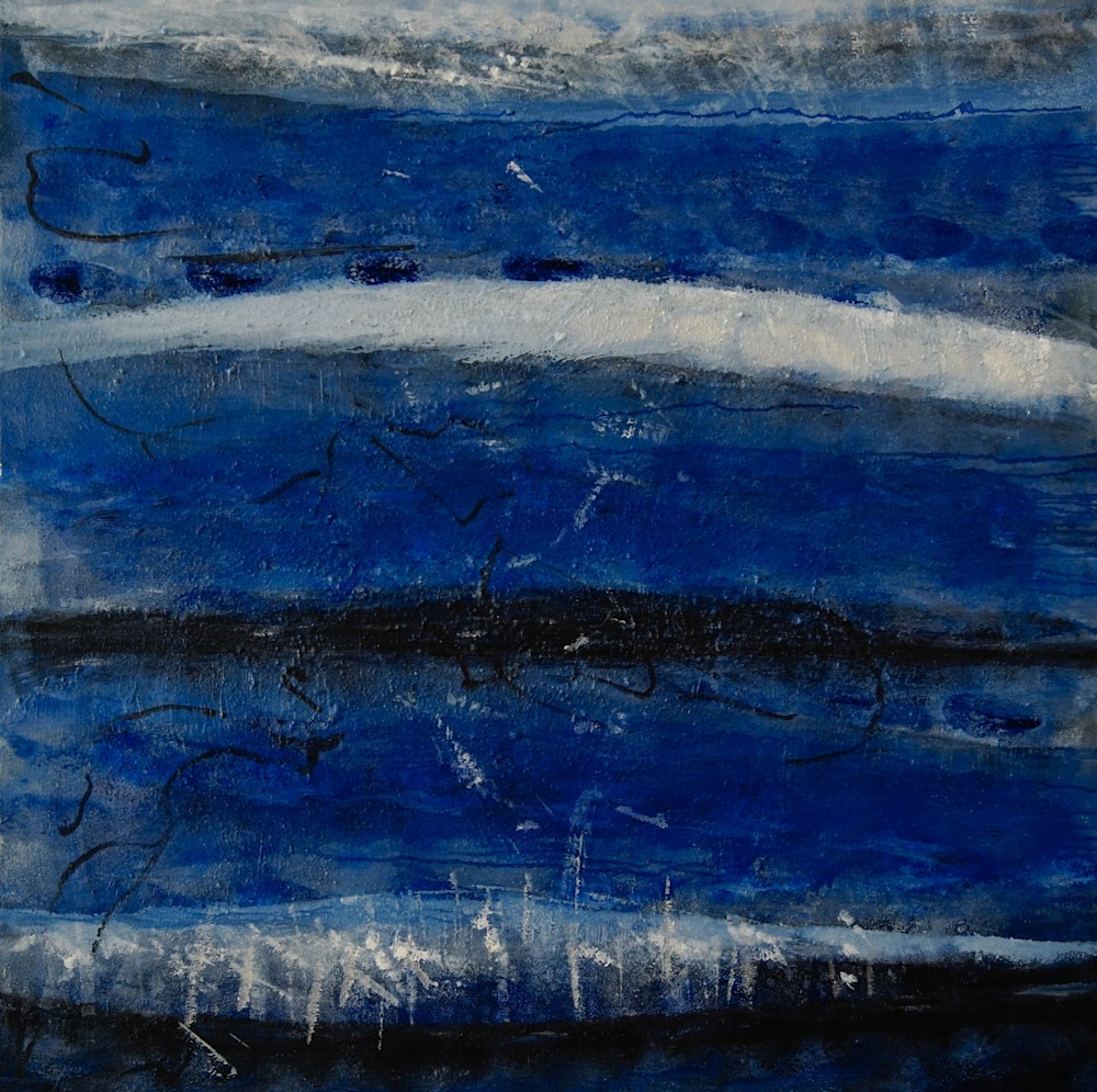 BLUE TIDES 4/5 31x31 inches $1500