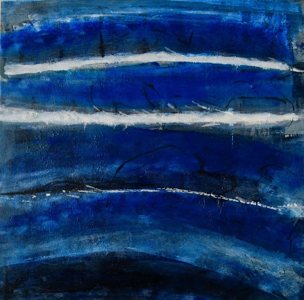 BLUE TIDES  3/ 5 31x31 inches $1500