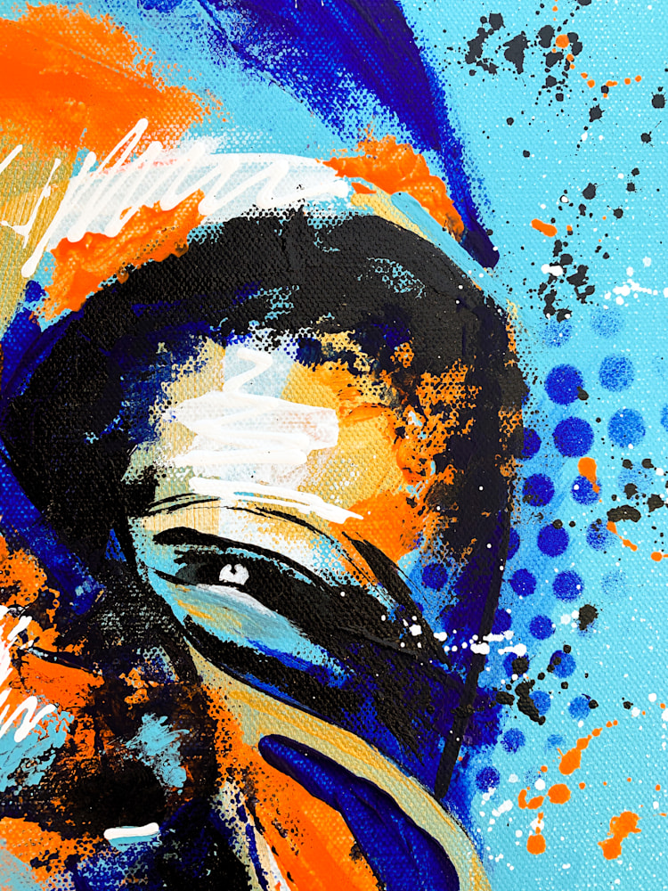24x36 zabe arts acrylic painting blue laughter zoom1