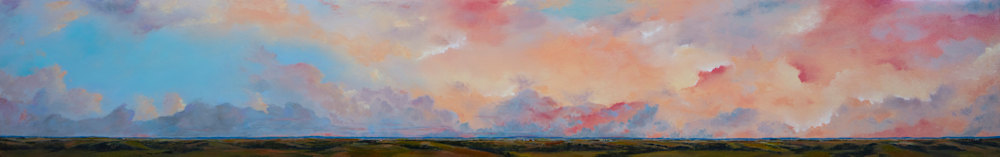 The Gift of Morning oil on panel, 10x64 wallace