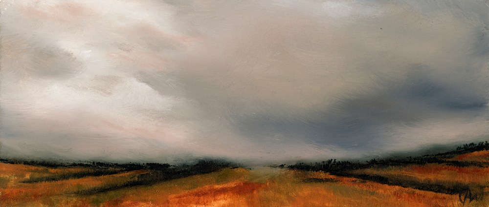 The Fall Almost No One Sees 2 oil on paper wallace