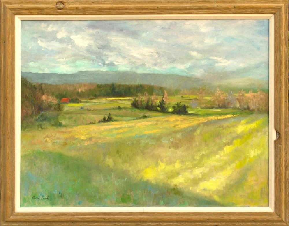 4594 FieldsAlongTheWayToHutschenhausen23x31 1995 framed