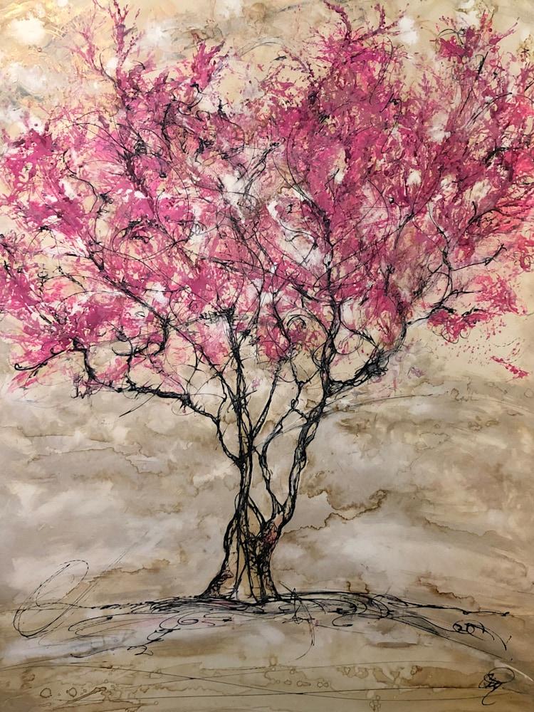 Redbud painting
