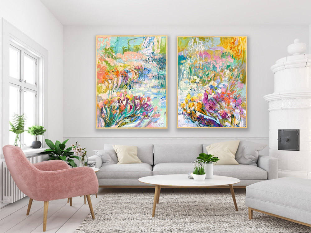 Joyful Morning and Heavenly Day diptych R1