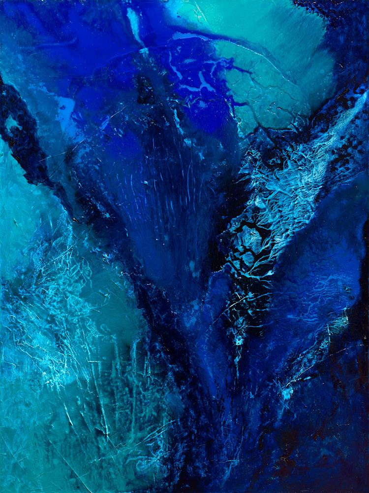 Blu Color Poem 3 MEDIUM