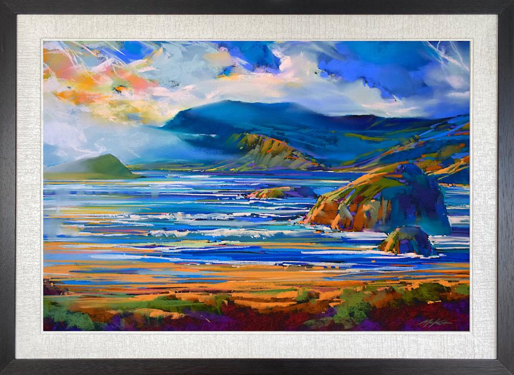 Oregon Coastal Blue Framed