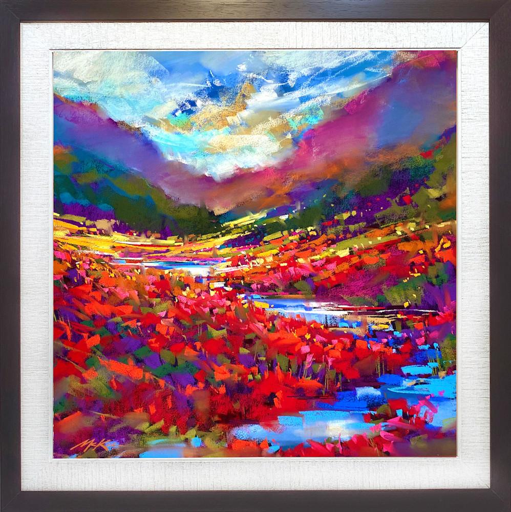 Scarlet Valley 27x27 cappuccino frame #1 copy